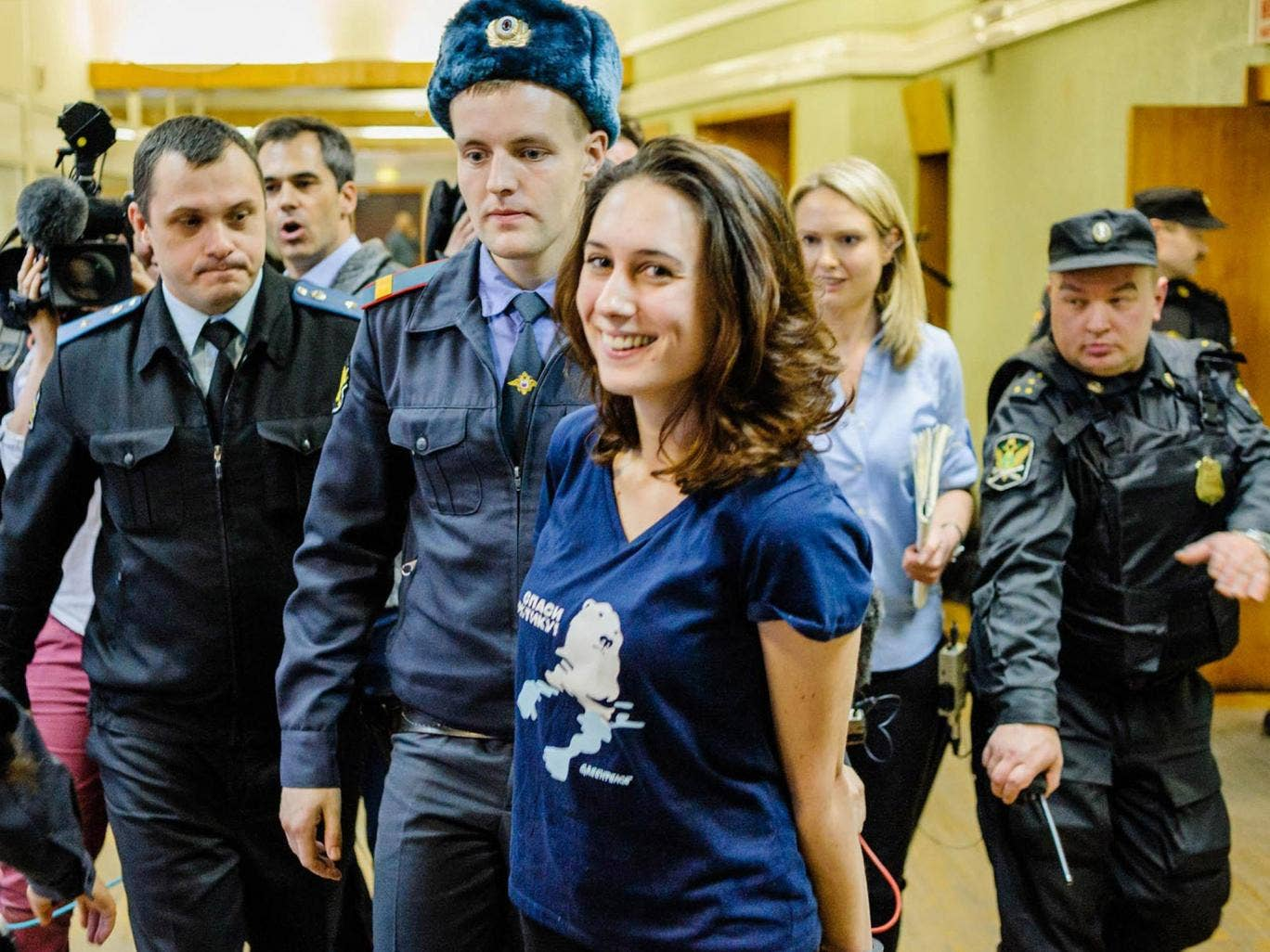 Alex Harris is one of five 'Arctic 30' detainees to be granted bail