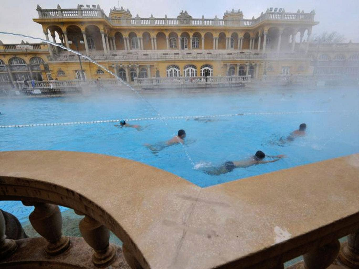 In hot water: one of Budapest's many thermal baths