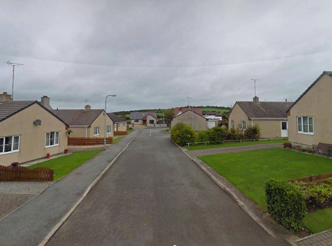 The street in Anglesey where Mr Fozard lived