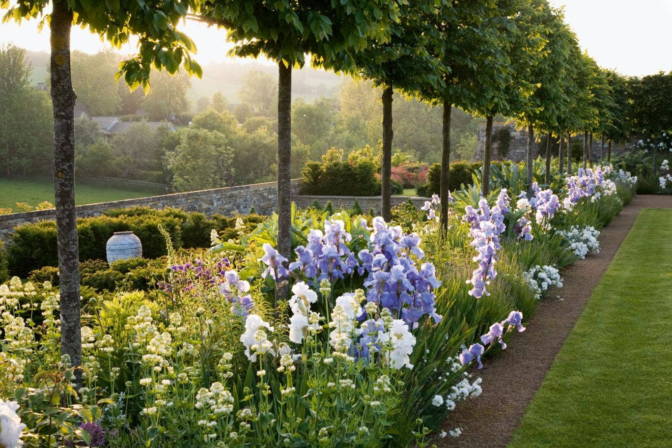 One of the lush pictures in 'The New English Garden'