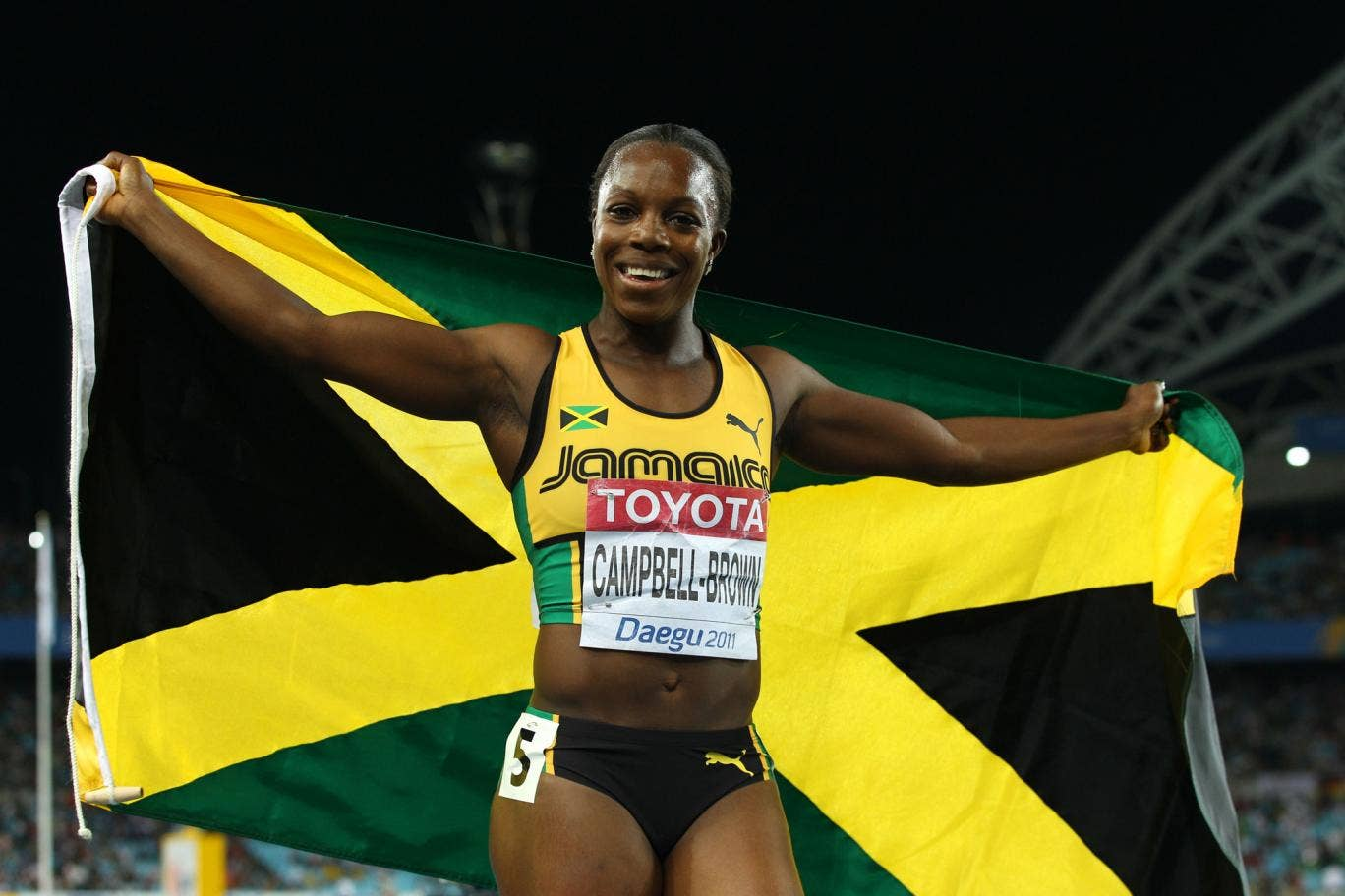 Jamaica's two-time Olympic 200m gold medalist Veronica Campbell Brown tested positive for a banned substance earlier this year