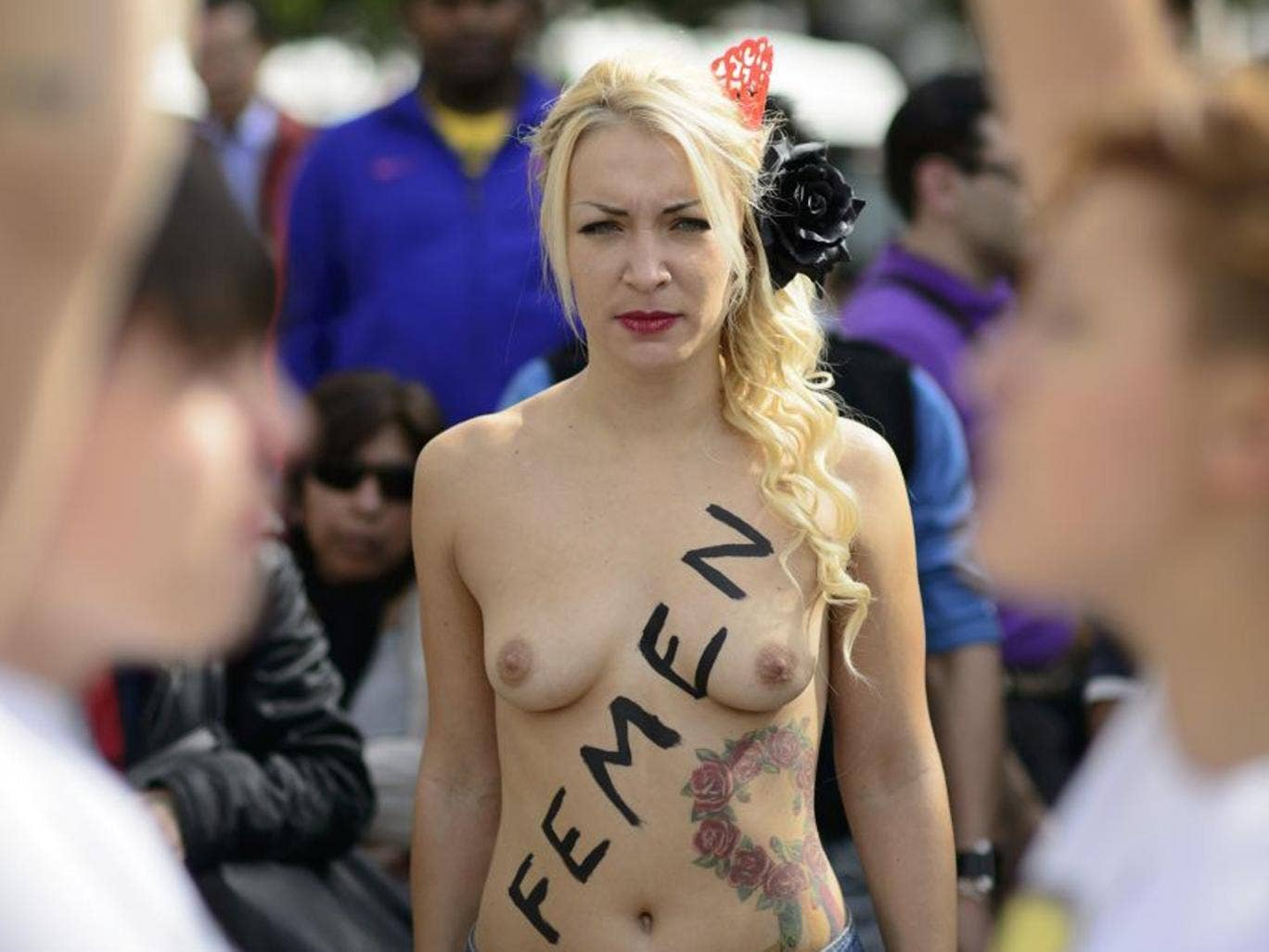 It remains unclear whether 'Femen' will include the nudity so associated with its subject on its front cover