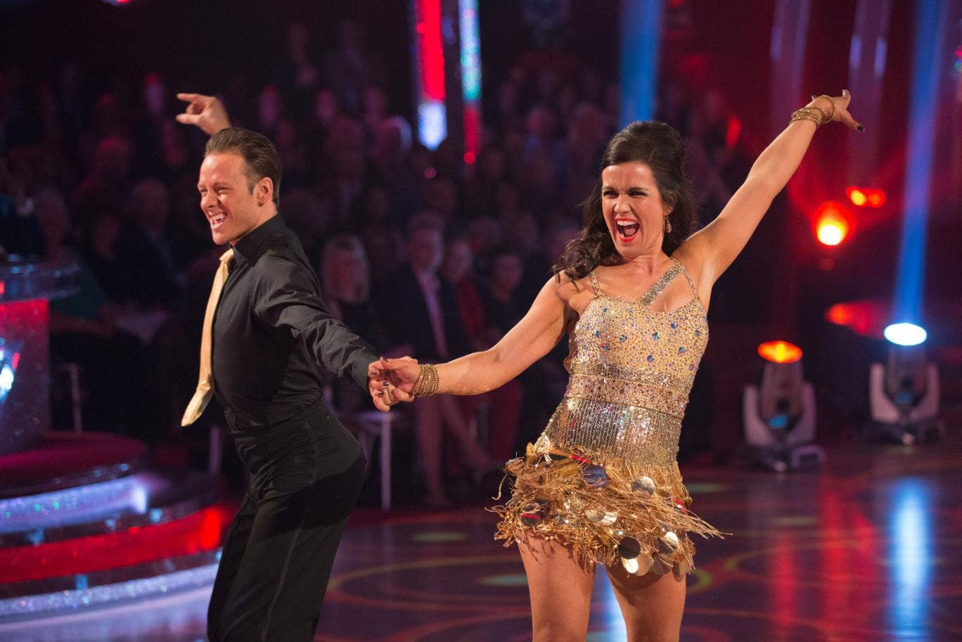 Susanna Reid dances the cha-cha on Strictly Come Dancing 2013