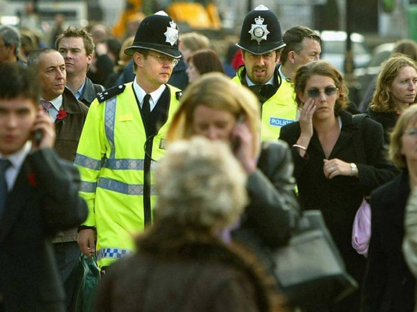 Off beat: Lord Stevens says there has been a collapse in the number of police officers on foot patrol