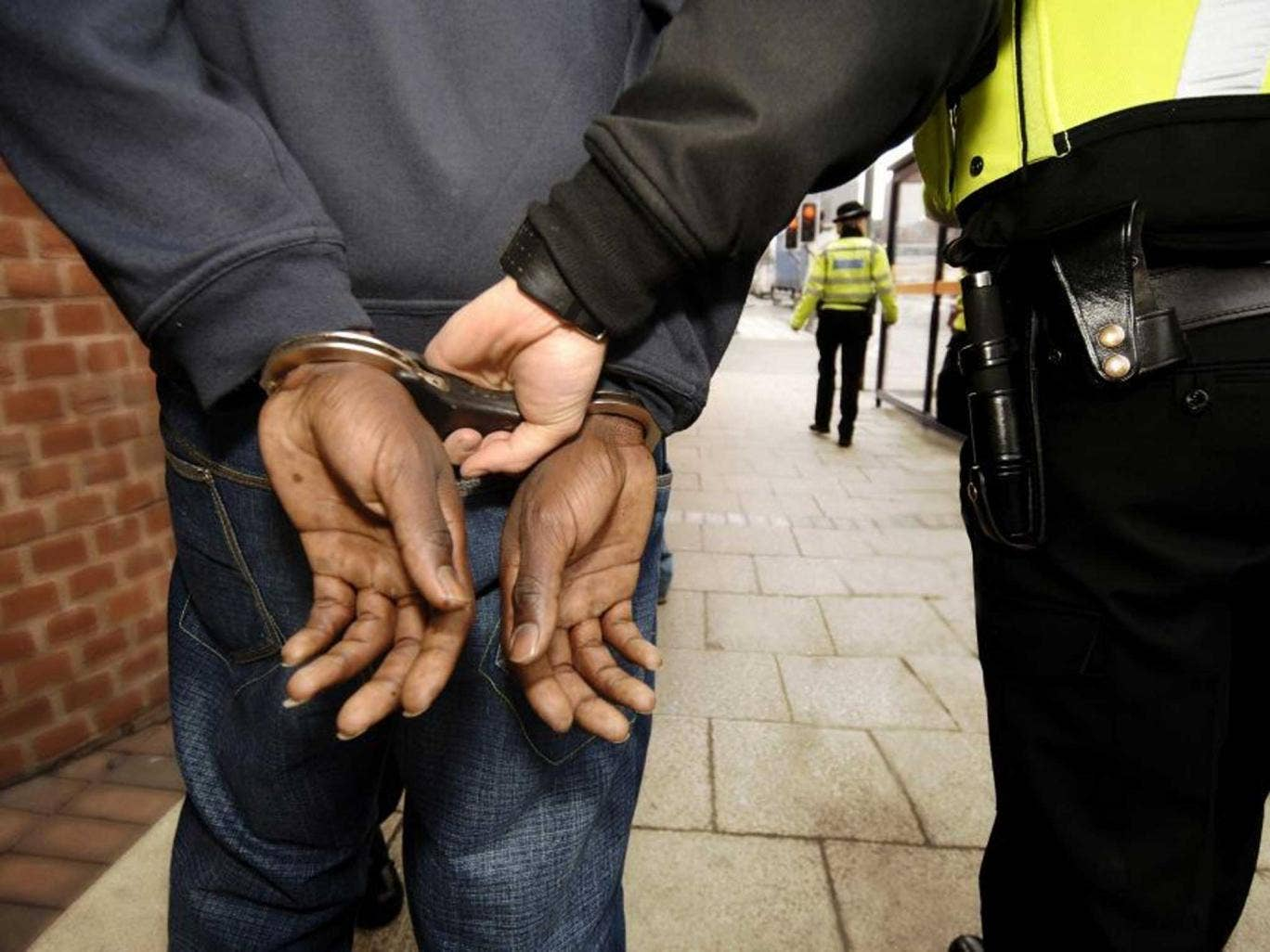 Arrested black people are more likely to go to court than any other ethnic group