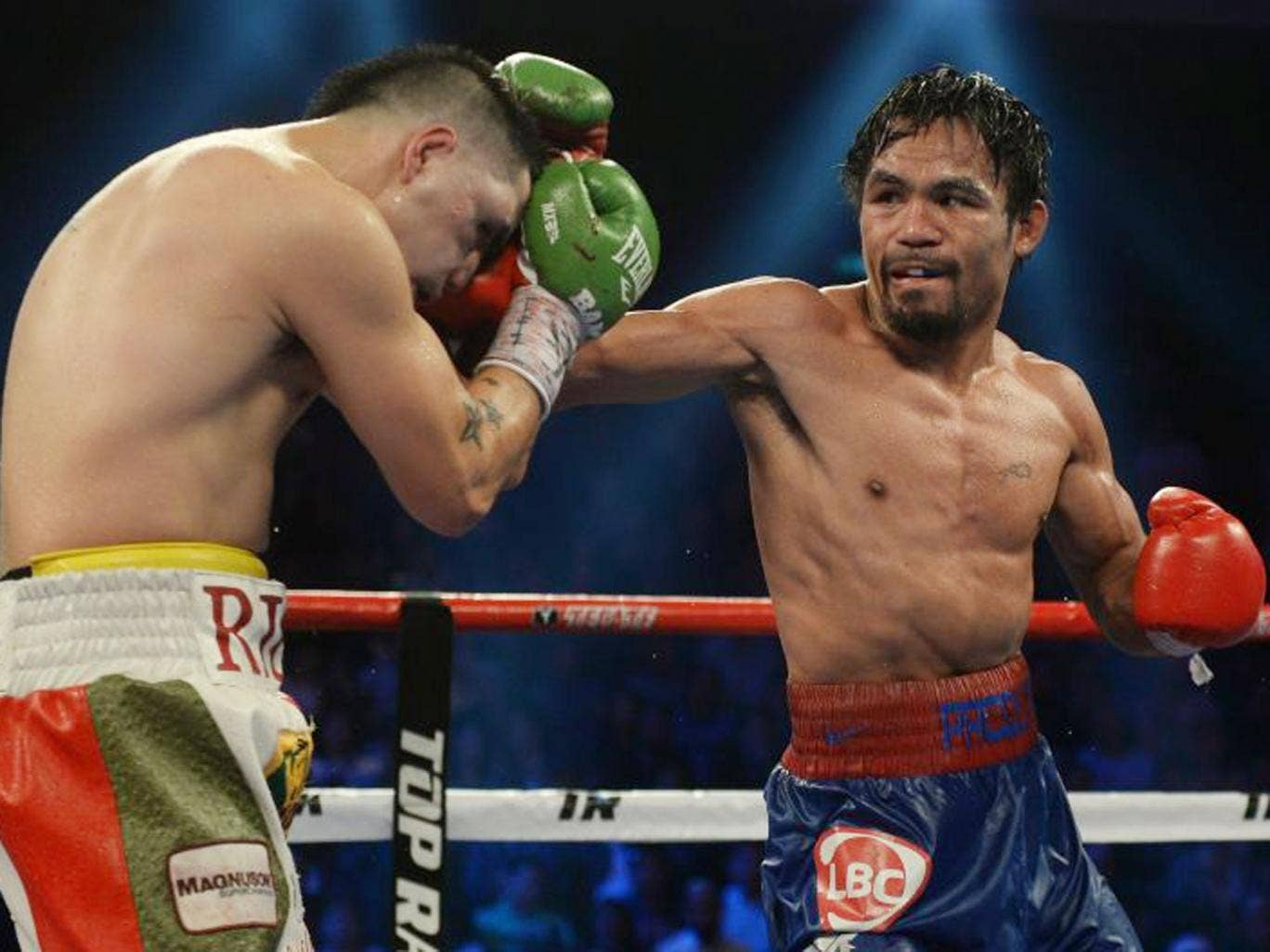 Pacquiao did all the hard work in the early rounds and was able to ease off as the final bell approached