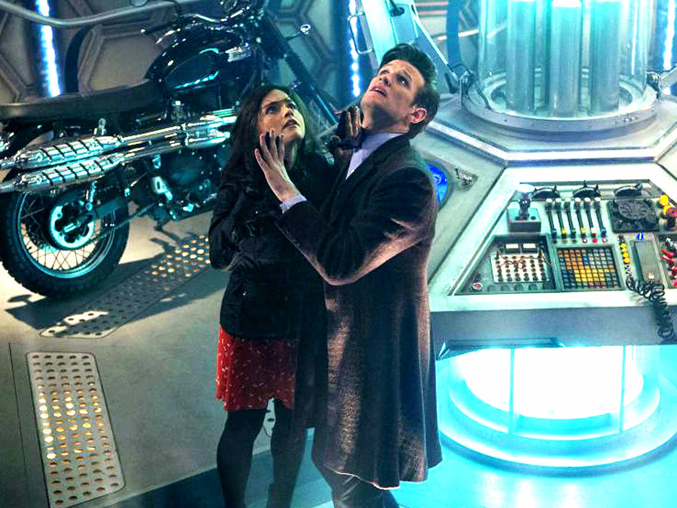 Jenna-Louise Coleman and Matt Smith in 'The Day of the Doctor'