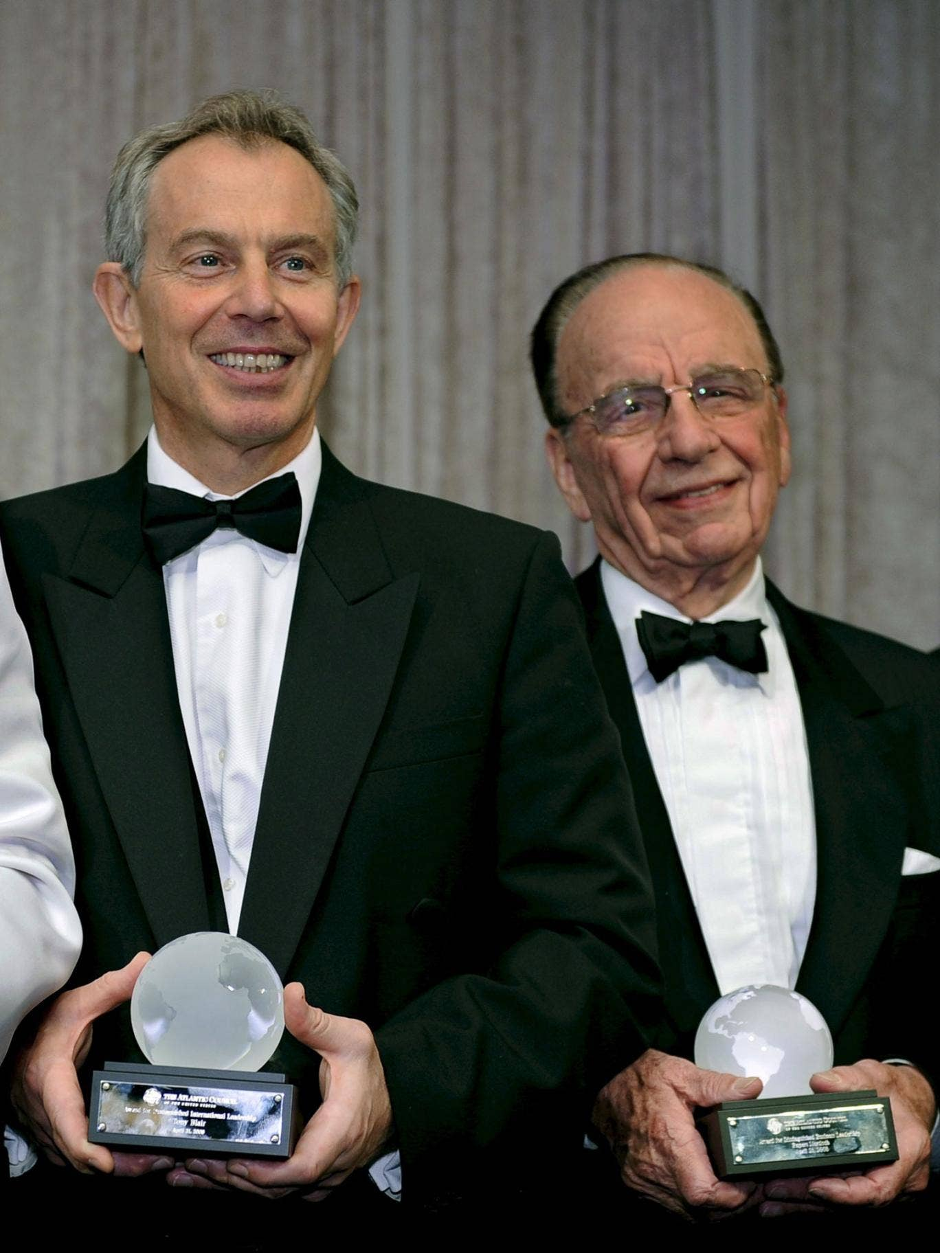 Tony Blair and Rupert Murdoch at an awards ceremony in 2008 – a remarkable friendship that started in 1995