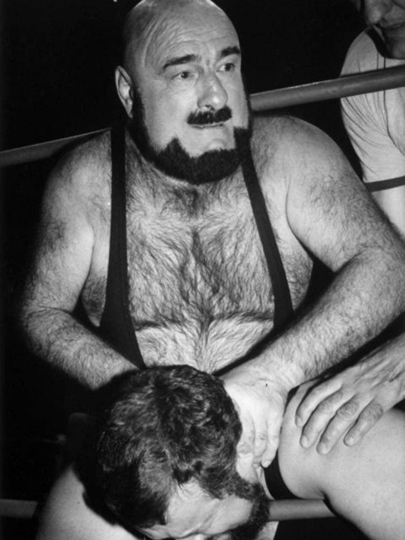 Vachon in action near the end of his career; he became notorious for his signature 'Piledriver'