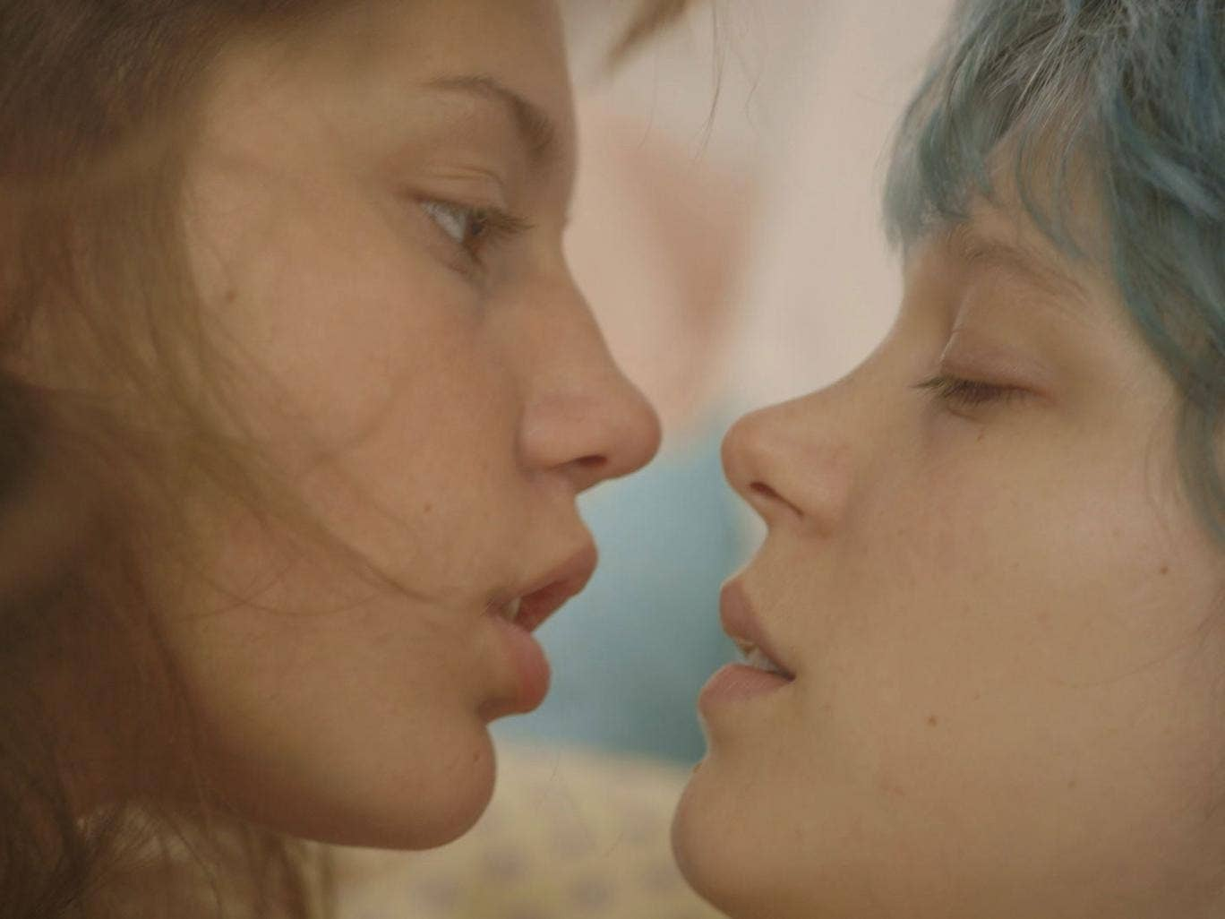 Adèle Exarchopoulos and Léa Seydoux play teeneage lovers in the French erotic drama 'Blue Is The Warmest Colour' - The survey found four times as many women admitting to same-sex experiences than 20 years ago