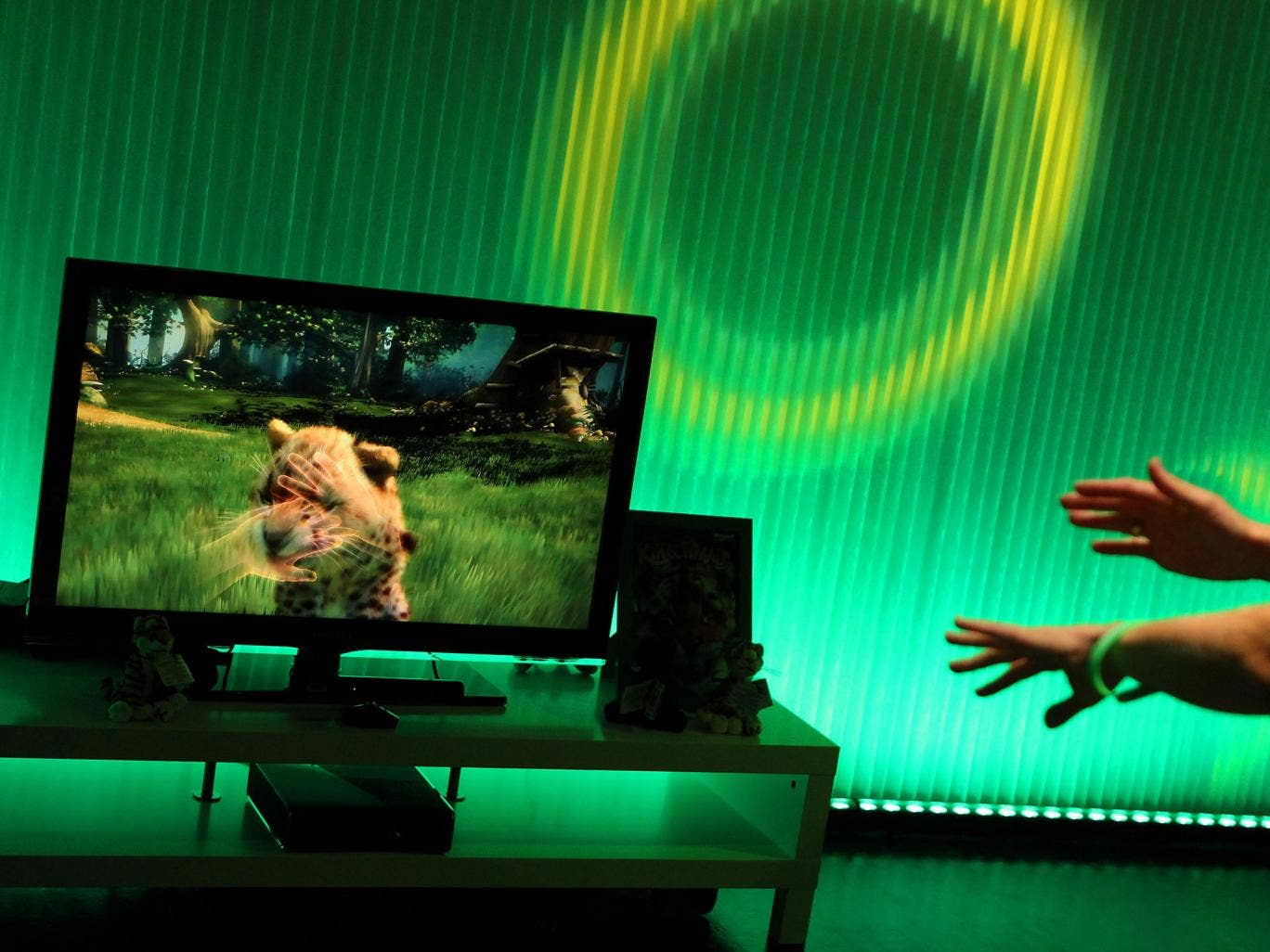 Microsoft's Xbox 360 is equipped with a Kinect motion-sensing controller