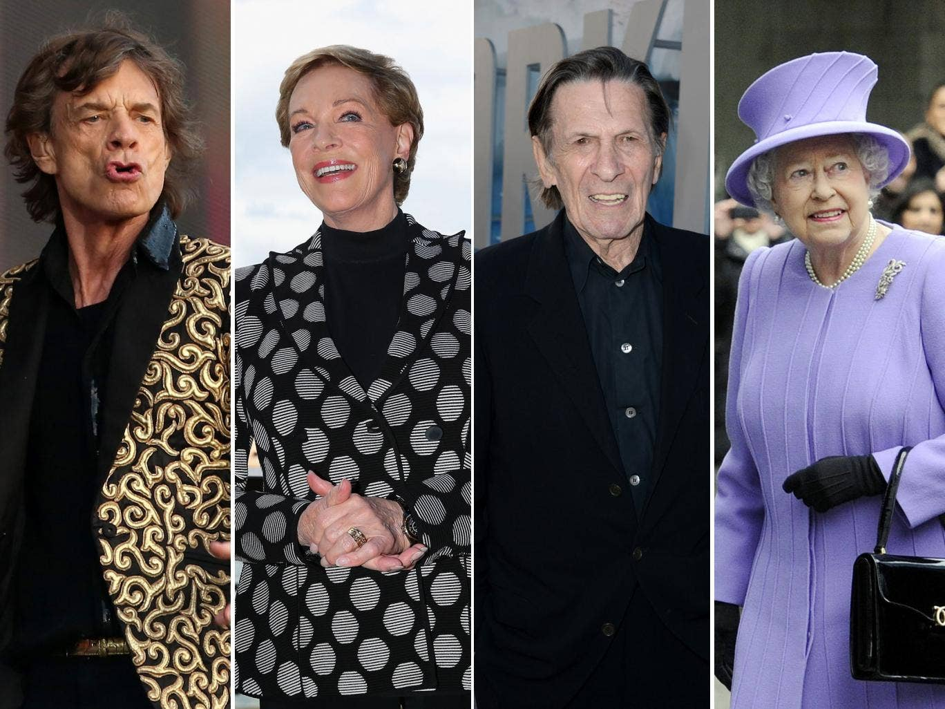 Jagger joins the GG club. Fellow members are: Julie Andrews, star of The Sound of Music; Leonard Nimoy, Star Trek's Dr Spock and Queen Elizabeth II