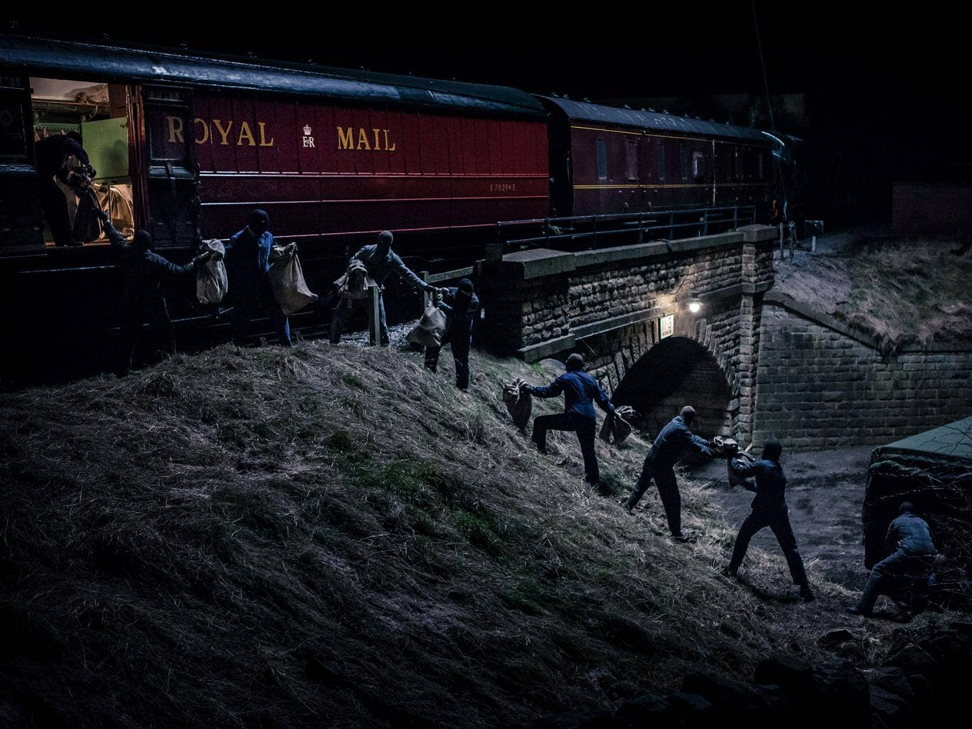 Off the rails: a scene from BBC1's 'The Great Train Robbery'