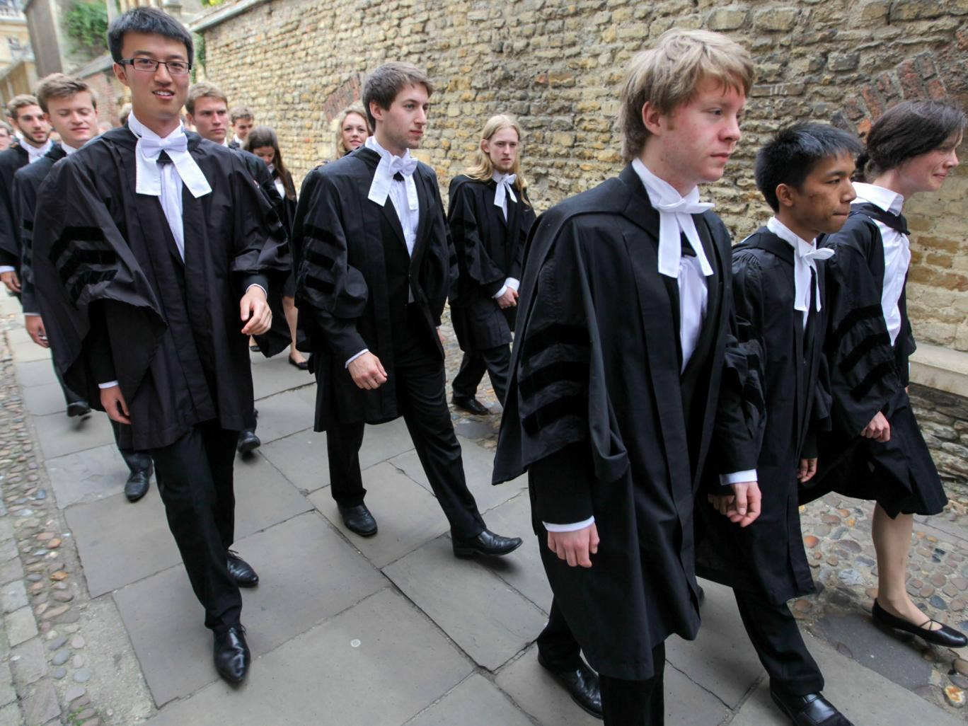 Cambridge University students on Graduation Day earlier this year