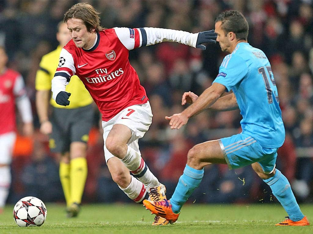 Tomas Rosicky doesn't get the headlines but has played a key role in Arsenal's European campaign