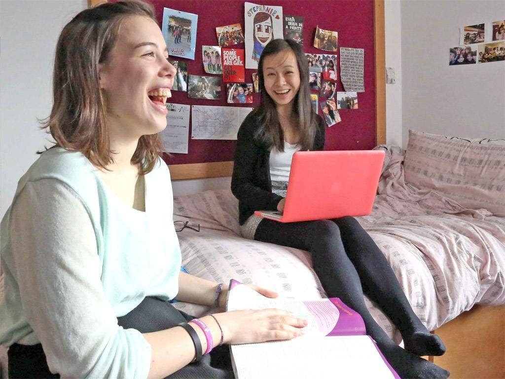 Home from home: pupils in their rooms