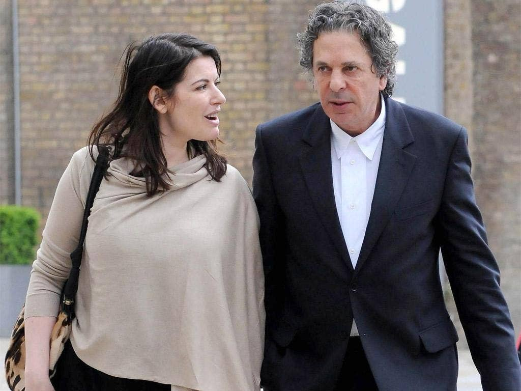 Nigella Lawson and Charles Saatchi during their marriage