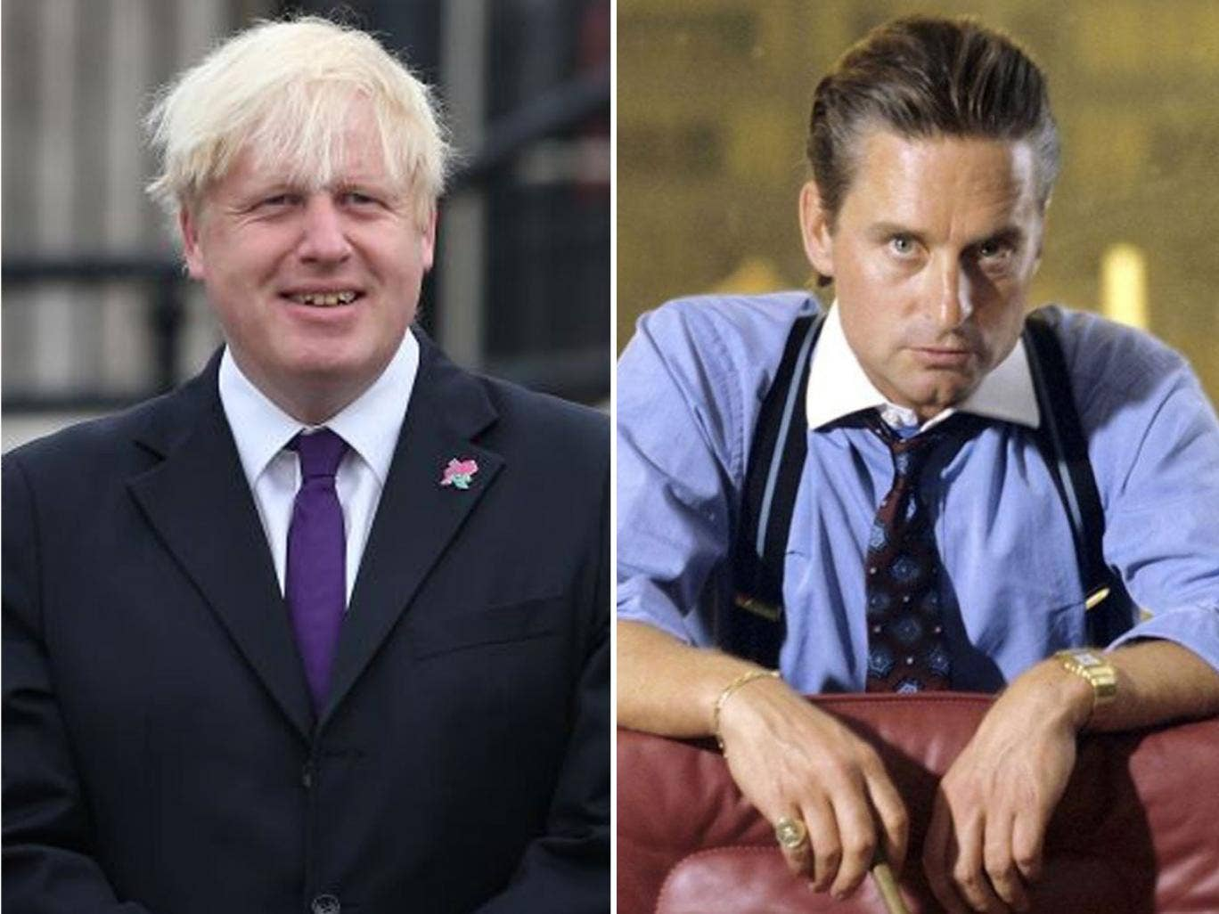 'Embrace a culture of greed': But who said it? London Mayor Boris Johnson or Michael Douglas' Gordon Gekko in 'Wall Street'?