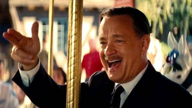 In glad company: Tom Hanks and Emma Thompson star in 'Saving Mr Banks'