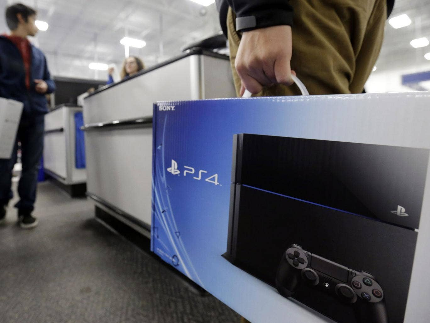 The Playstation 4 console retails for £349 – £80 less than its rival Microsoft's Xbox One system