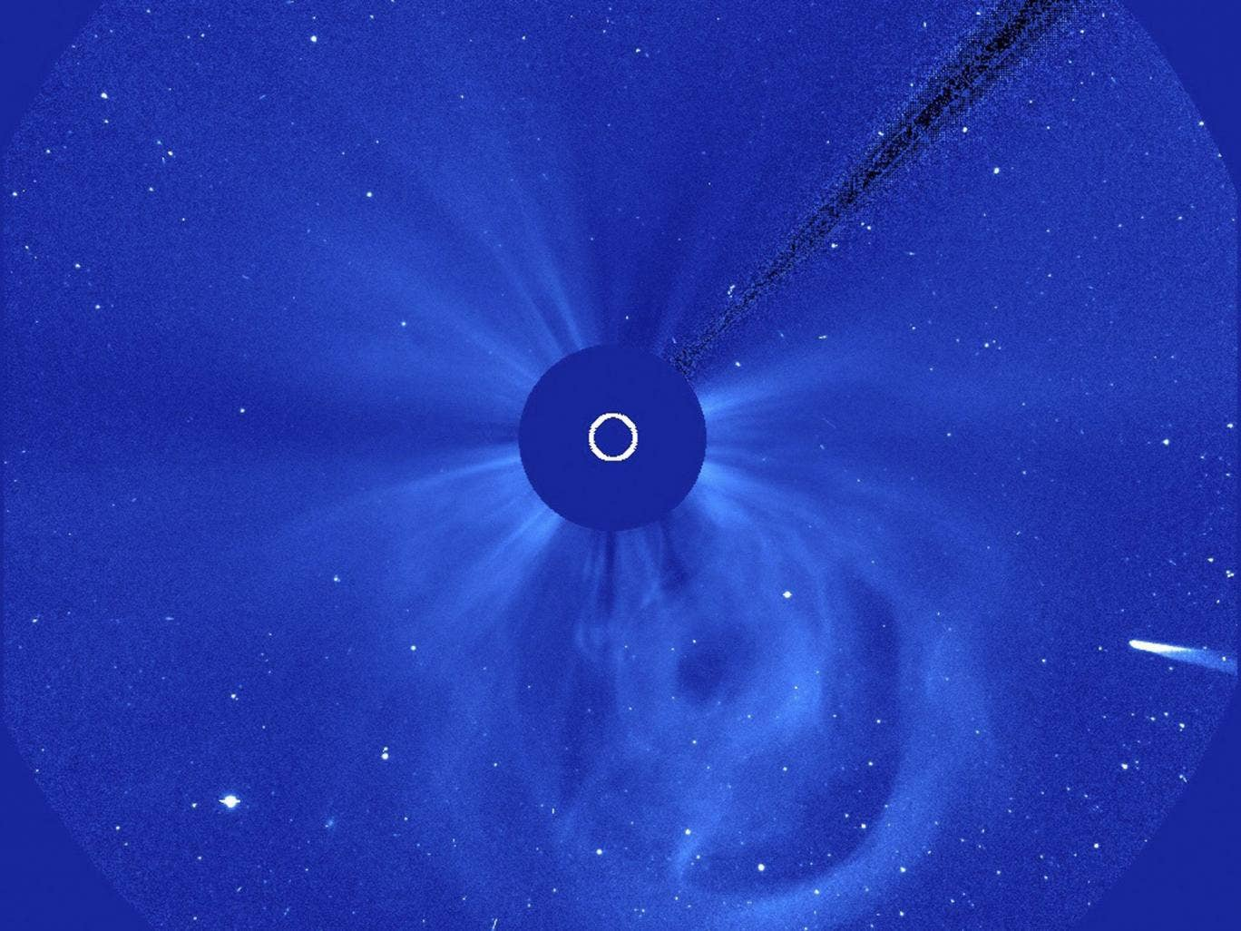 Comet ISON enters the field of view of the European Space Agency/NASA Solar and Heliospheric Observatory