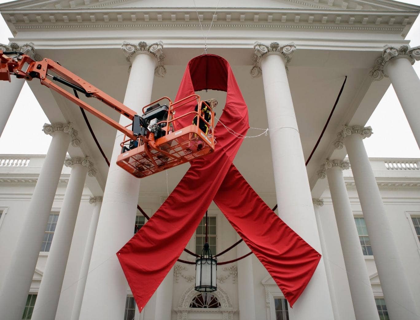 The White House Prepares For World AIDS Day in November 2011