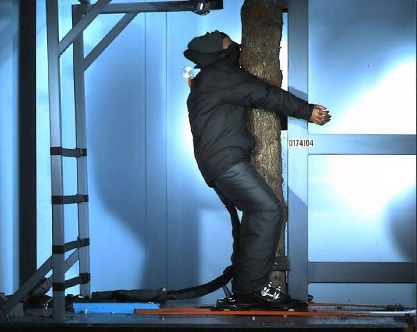 Direct Line's ski helmet research put crash-test dummies on a collision course with a tree