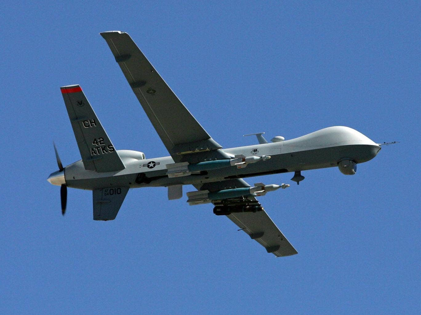 The Afghan president Hamid Karzai said the airstrike was carried out by a drone