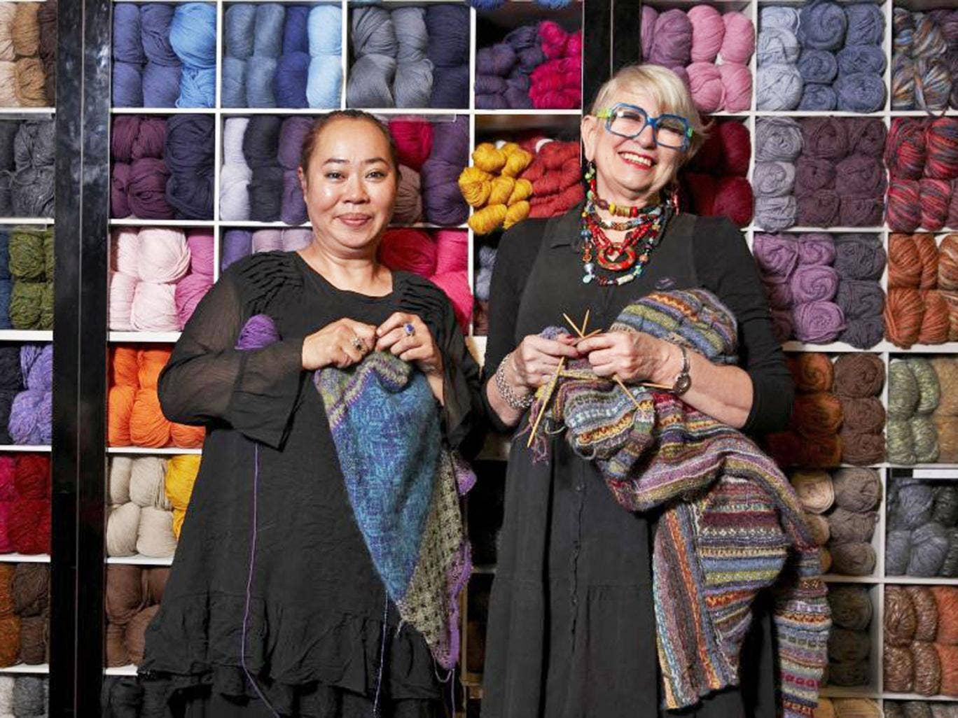 Material world: sales staff Jools and Trudy featured in 'Liberty of London'