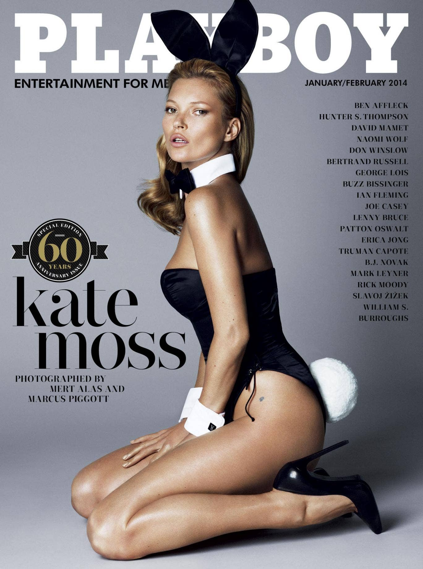 Kate Moss' long-awaited Playboy 60th Anniversary cover was unveiled online today