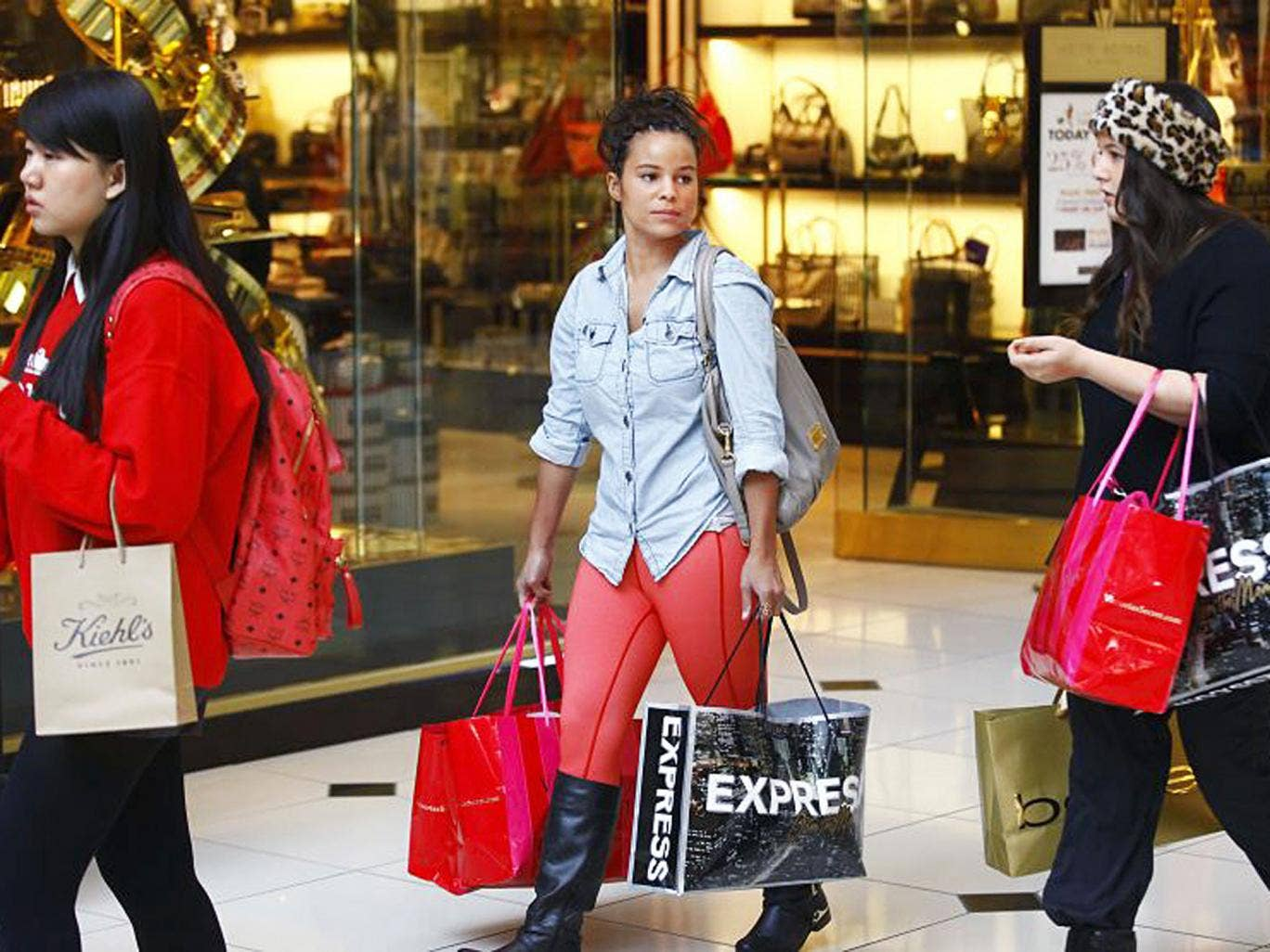 Buy buy baby: shoppers hit the mall on Black Friday in Troy, Michigan