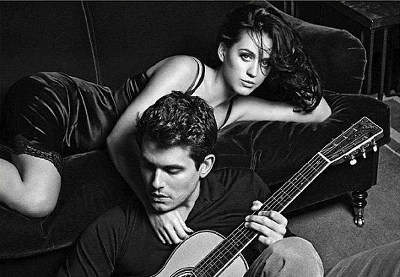 Katy Perry and John Mayer pose on the cover of their new single
