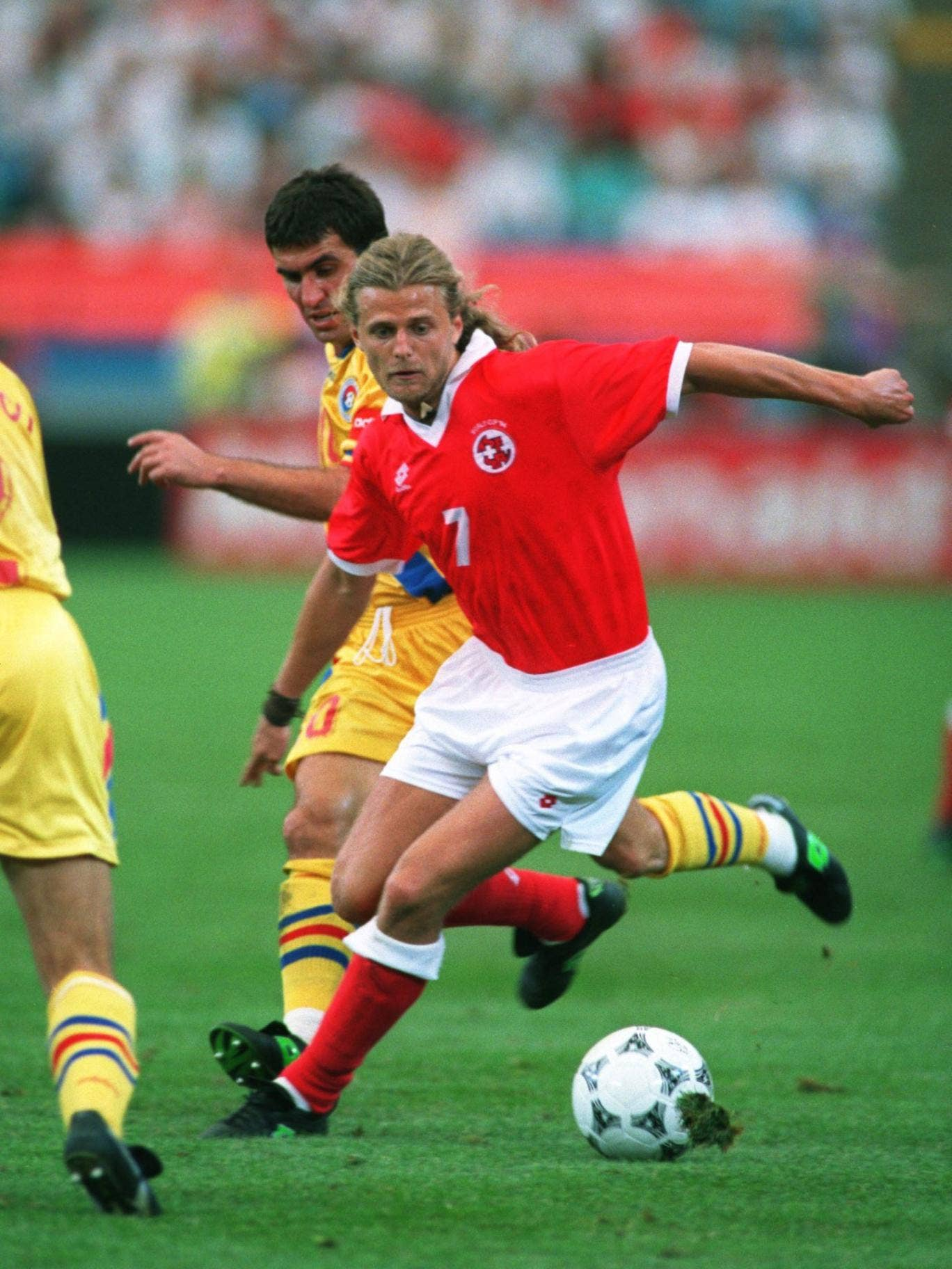 Alain Sutter helped Roy Hodgson's Switzerland reach the last 16 in 1994