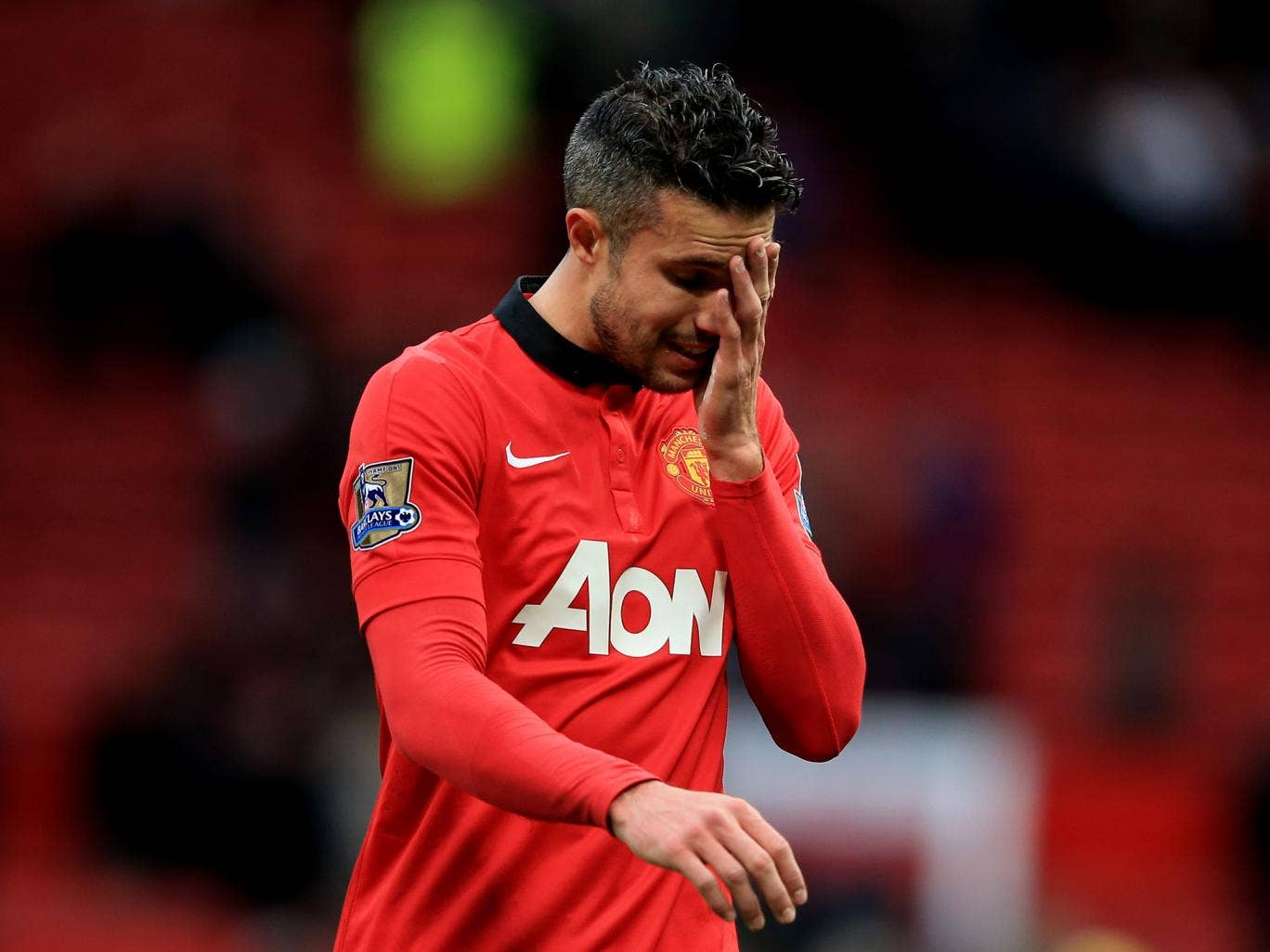 Rumours that Robin van Persie handed in a transfer request have been dismissed as 'nonsense' by Manchester United manager David Moyes