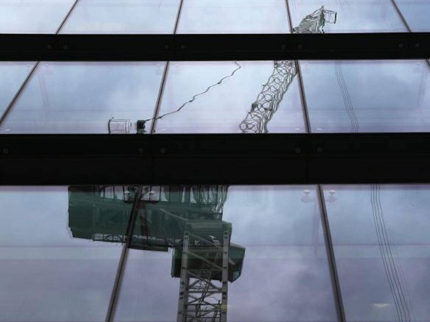Three-quarters of Britain's active cranes are in London and the Home Counties