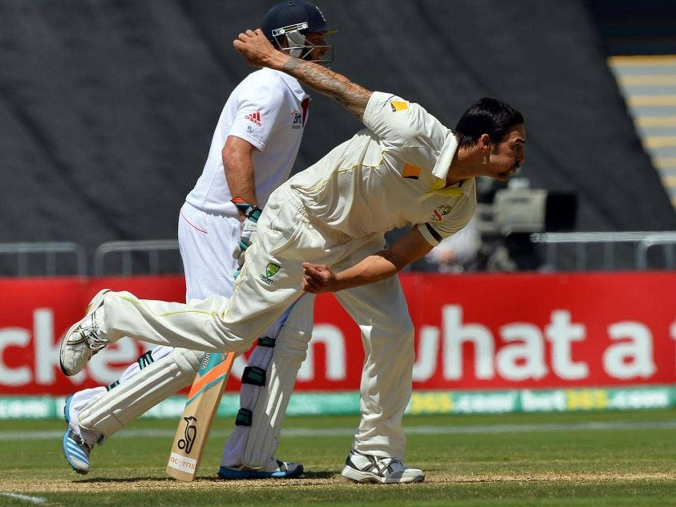 Bowlers like Mitchell Johnson appear able to harness the energy at the ground and convert it into a wave of menace and momentum that washes away batsmen