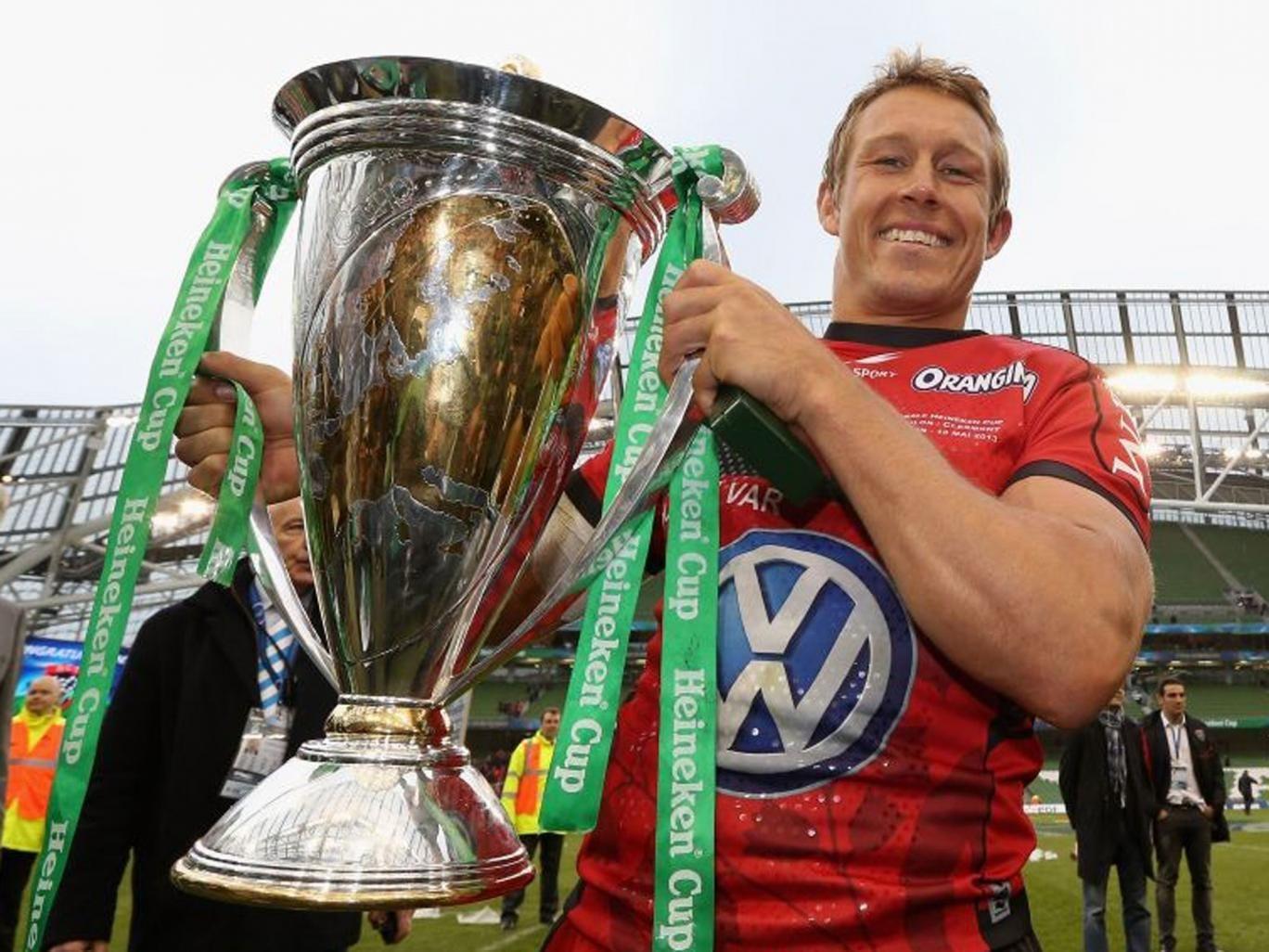 Better days: Jonny Wilkinson lifts the Heineken Cup