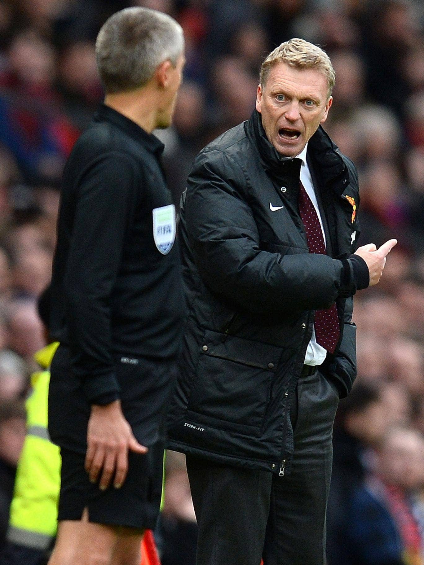 David Moyes' frustration with the United squad he inherited was apparent in defeat
