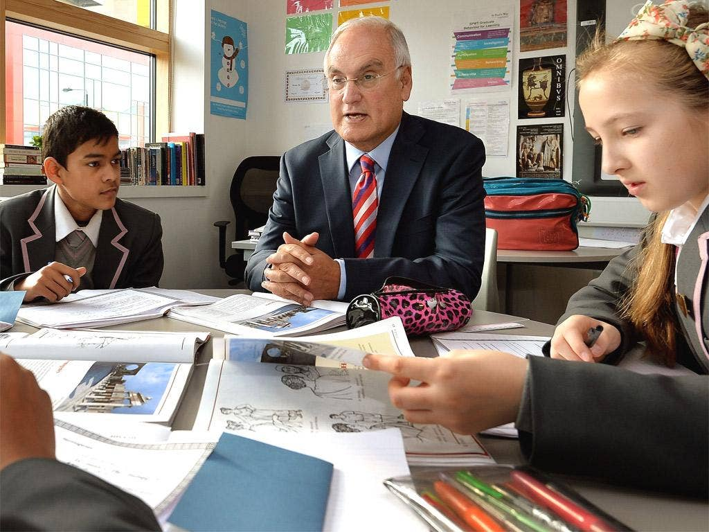 Sir Michael Wilshaw said luck governs pupils' fortunes