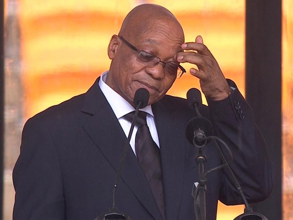 Jacob Zuma was greeted with hostility in Soweto