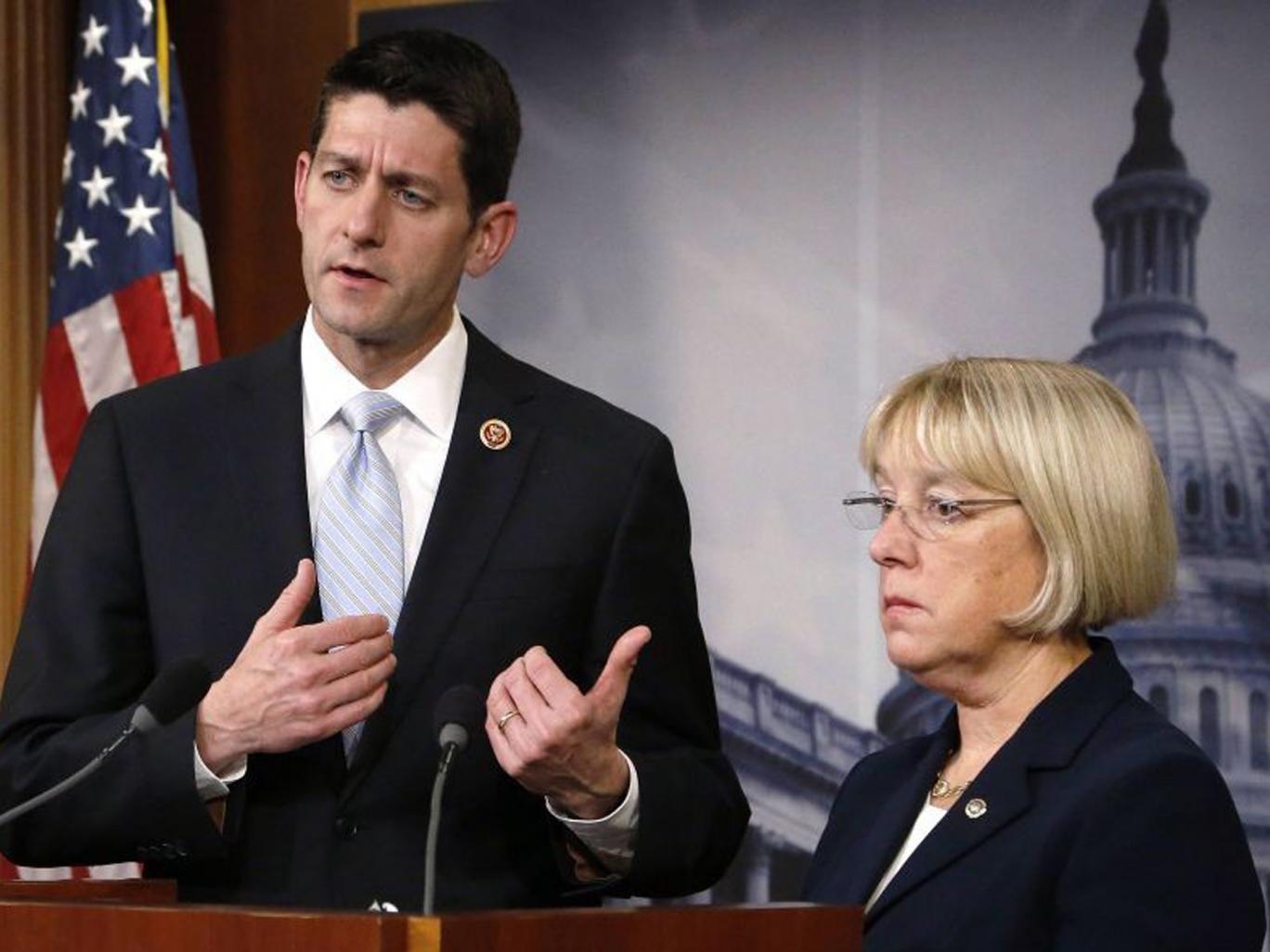 House Budget Committee chairman Representative Paul Ryan and Senate Budget Committee chairman Senator Patty Murray