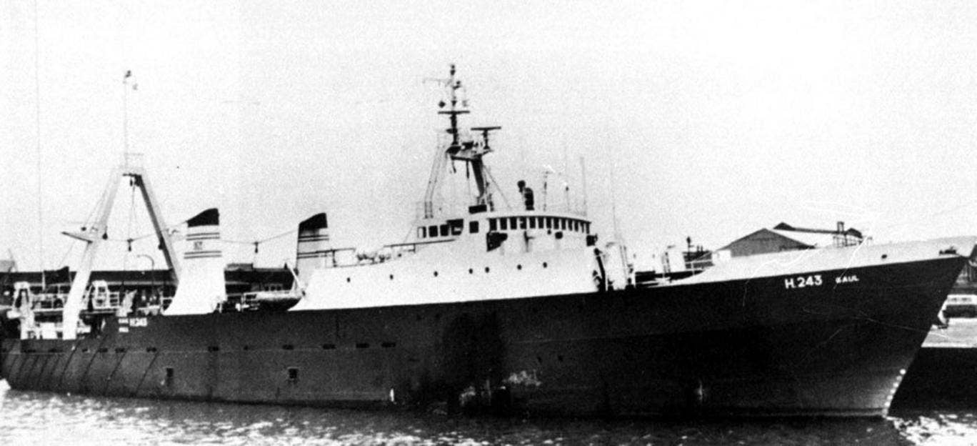 The Hull-based trawler, the Gaul, which sank in 1974. Tests are being carried out to discover whether human remains found in Russia are those of missing sailors from the trawler that went down in the Barents Sea off Norway with the loss of 36 men