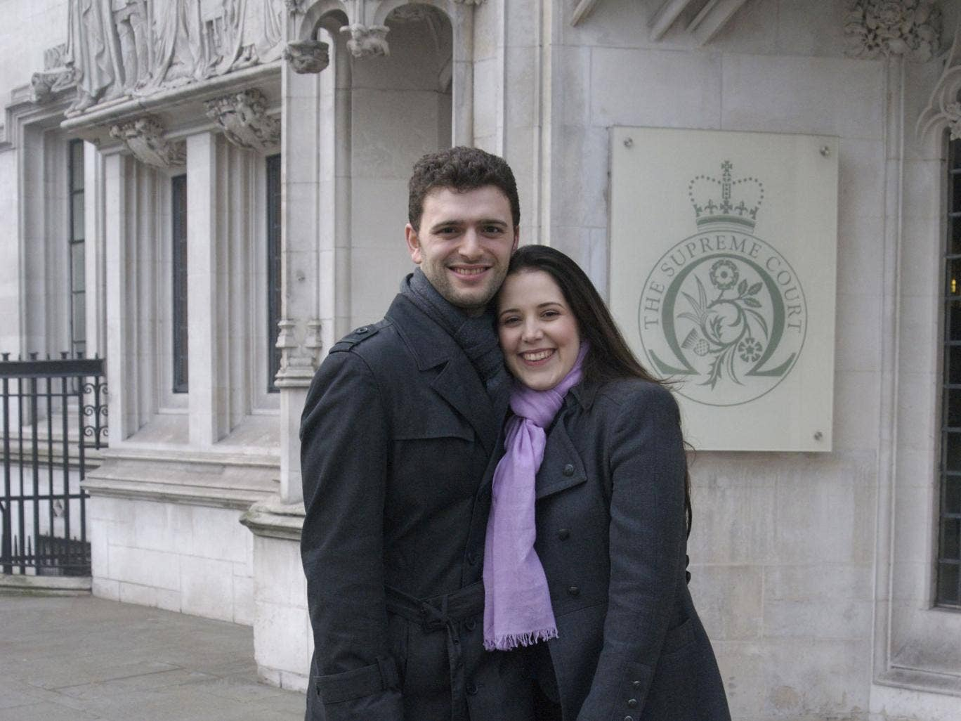 Scientologist Louisa Hodkin with her fiance Alessandro Calcioli. A Supreme Court today ruled the couple should be allowed to marry in a Church of Scientology chapel