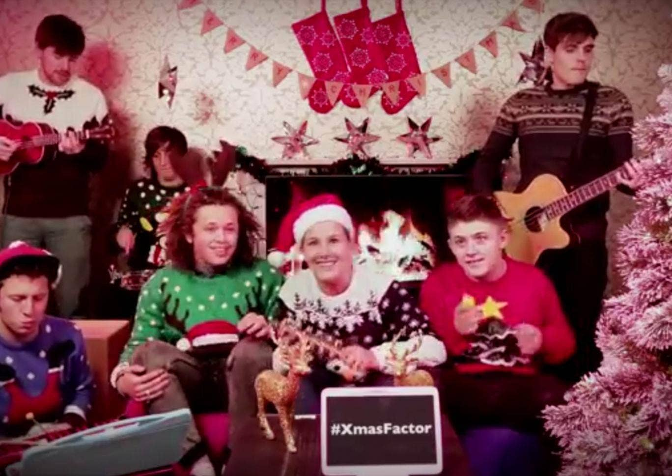 Luke Friend, Sam Bailey and Nicholas McDonald get in the Christmas mood with a rendition of Wizzard's 'I Wish It Could Be Christmas Everyday'