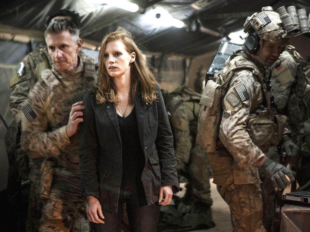 Oscar nominated Jessica Chastain in 'Zero Dark Thirty'