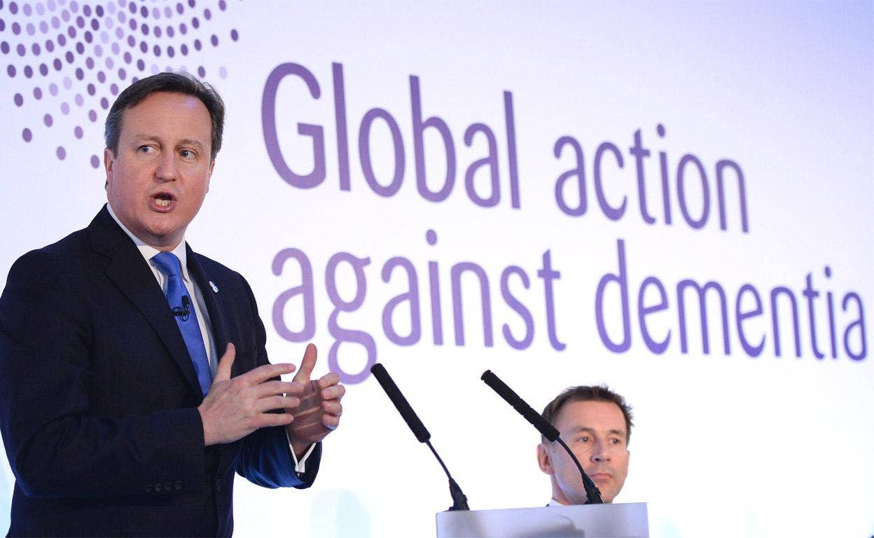 Prime Minister David Cameron speaks at the G8 Dementia Summit