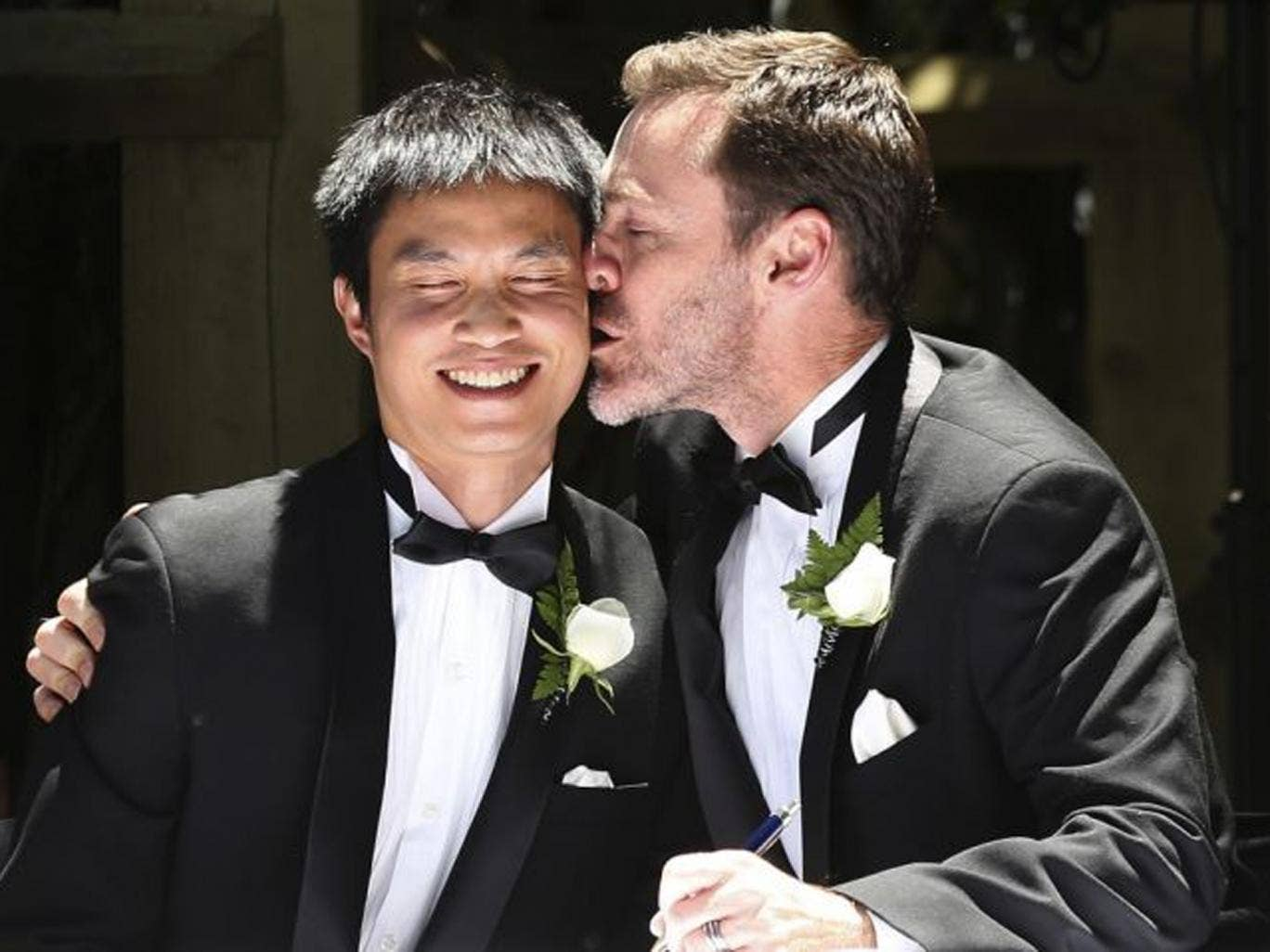 Chris Teoh and Ivan Hinton married on Saturday