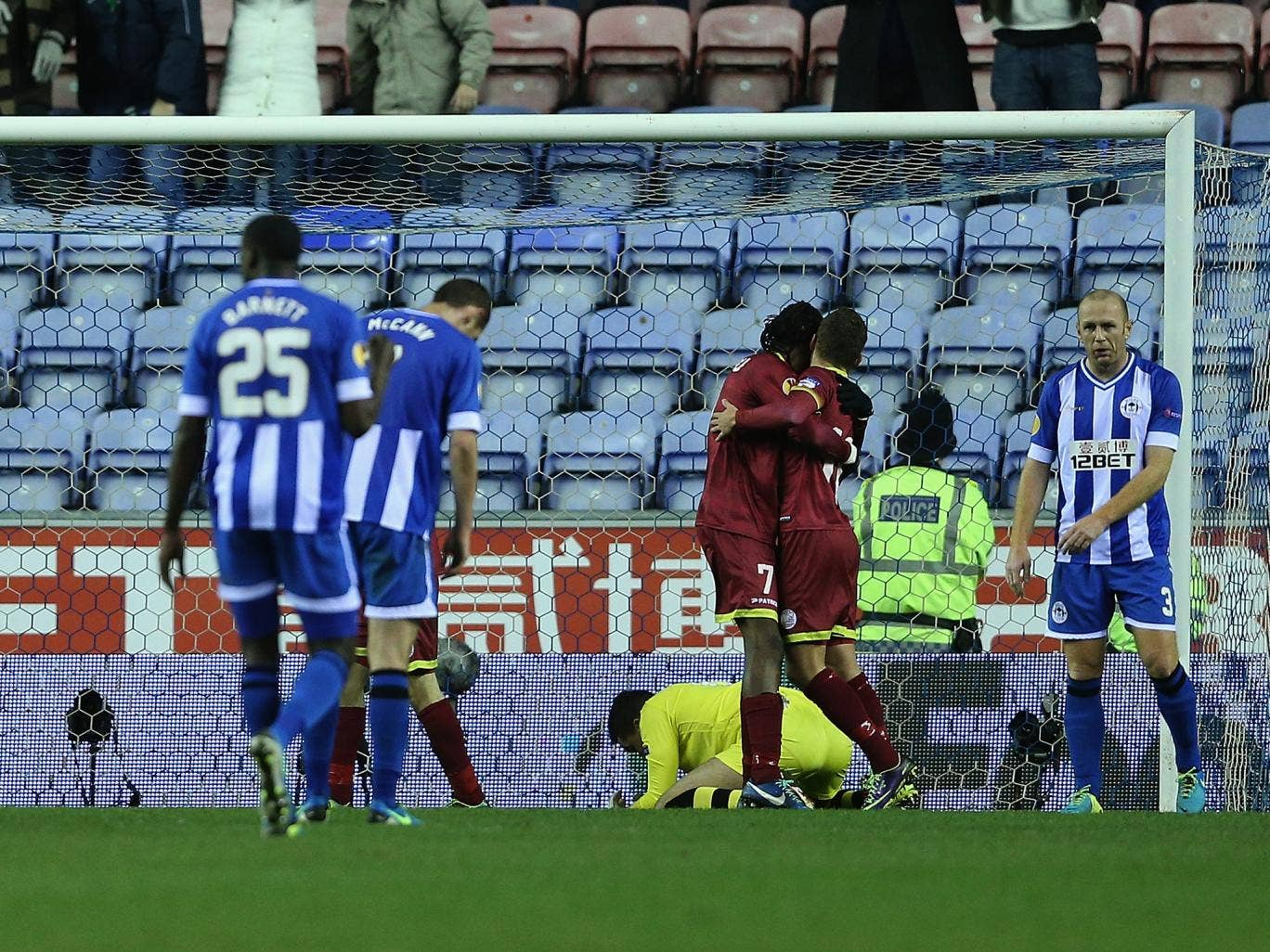 Wigan lost out to Zulte-Waregem 2-1 last time out