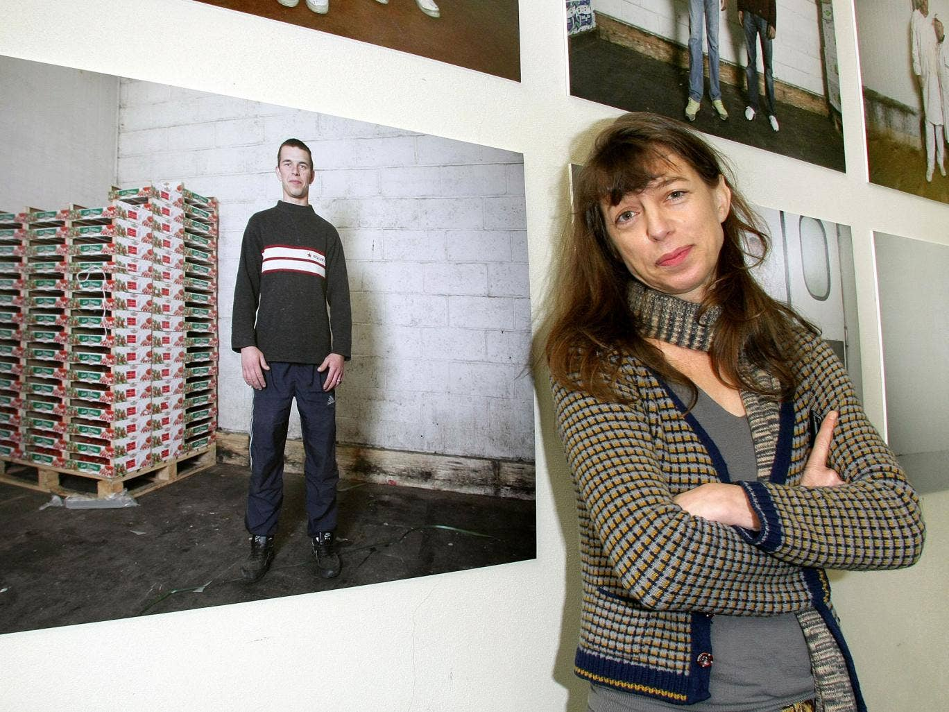 Barry in 2009 with pictures she had taken at the Rungis Market in Paris
