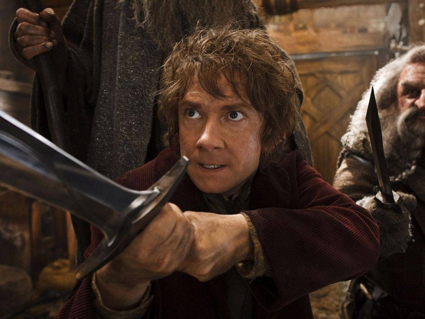 Knives out: Martin Freeman in a scene from The Hobbit: The Desolation of Smaug